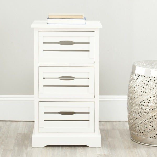 Safavieh Samara 3-Drawer Storage Cream Cabinet