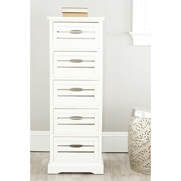 Safavieh Samara Storage 5-Drawer Cream Cabinet