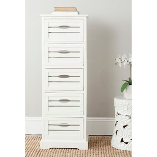 "Safavieh Sarina Storage 5-Drawer Cream Cabinet - 16.5"" x 12.6"" x 46.5"""