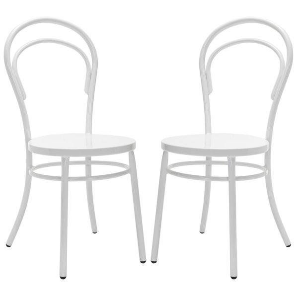 Safavieh Gatria White Side Chairs (Set of 2)