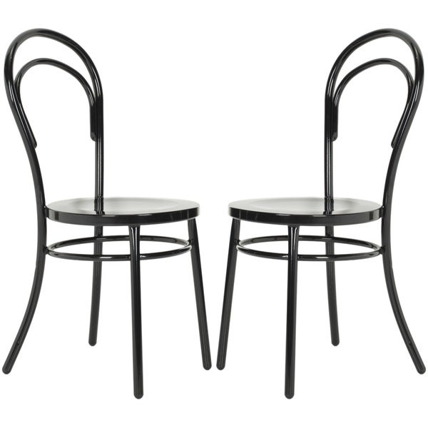 Safavieh Metropolitan Dining Gatria Black Side Chairs (Set of 2)