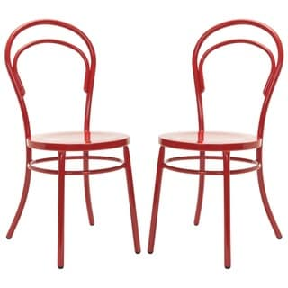 Safavieh Gatria Red Side Chairs (Set of 2)