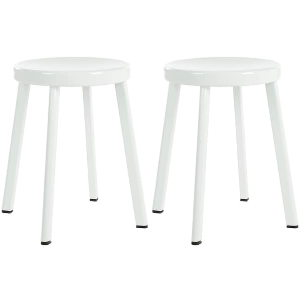 Safavieh Indus White 29.5-inch Stools (Set of 2)
