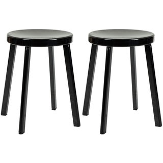 Safavieh Indus Black Stools (Set of 2)