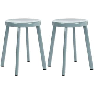 Safavieh Indus Grey Stools (Set of 2)