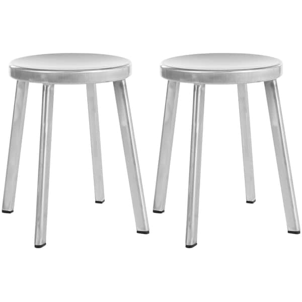 Safavieh Indus Silver 29.5-inch Stools (Set of 2)