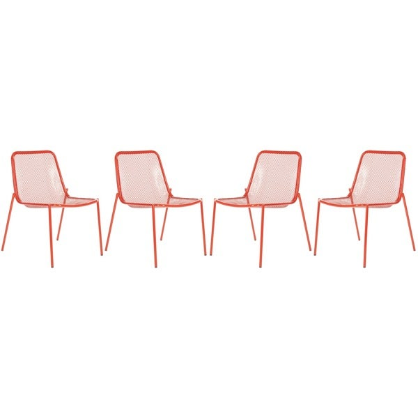 Safavieh Metropolitan Dining Orion Red Side Chairs (Set of 4)