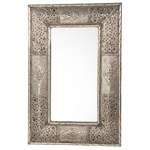 24-Inch Handcrafted Metalwork Moroccan Mirror (Morocco)