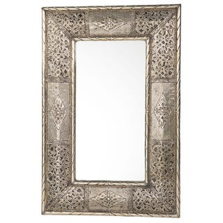 24-Inch Handcrafted Metalwork Moroccan Mirror (Morocco)