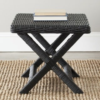 Safavieh Manor Black Wicker X-Bench