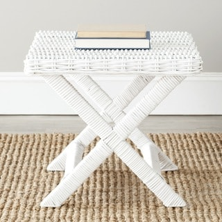Safavieh Manor White Wicker X-Bench