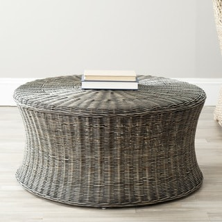 Safavieh Ruxton Dark Brown Wicker Ottoman