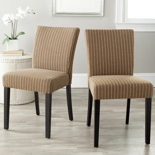 Safavieh Camille Brown Pinstripe Dining Chairs (Set of 2)