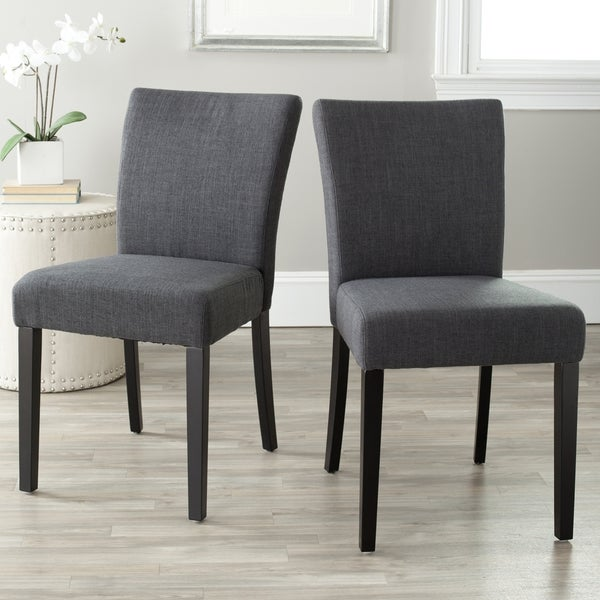 Safavieh Parsons Dining Camille Grey Side Chairs (Set of 2)