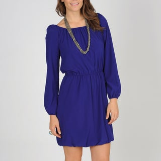 Tiana B. Women's Royal Blue Peasant Dress