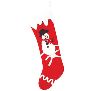 Snowy Snowman Felt Stocking (Nepal)