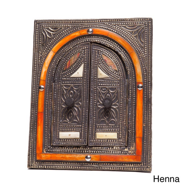 Handcrafted Mirror with Doors (Morocco)