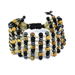 Mystic Net Multistones Silk Strands Bracelet (Thailand)