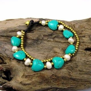 Whimsical Love Mix Stones Jingle Bell Bracelet (Thailand)