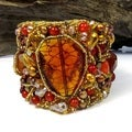 Luminous Glow Orange Stones Festive Net Cuff (Thailand)