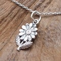 Petite Sunflower Sterling Silver Necklace (Thailand)