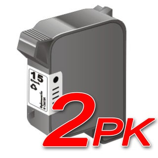 HP 15/ C6615DN Black Ink Cartridge (Pack of 2) (Remanufactured)