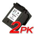 HP 21XL/ C9351AN Black Ink Cartridge (Pack of 2) (Remanufactured)