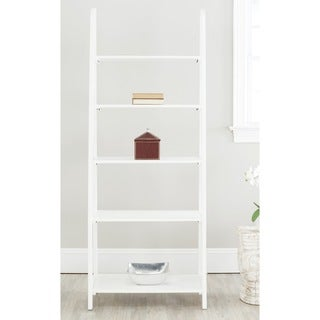 White Five-tier Leaning Ladder Shelf - 13089889 - Overstock.com ...