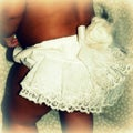 Just Girls White Lace Ruffle Baby Bloomers Set