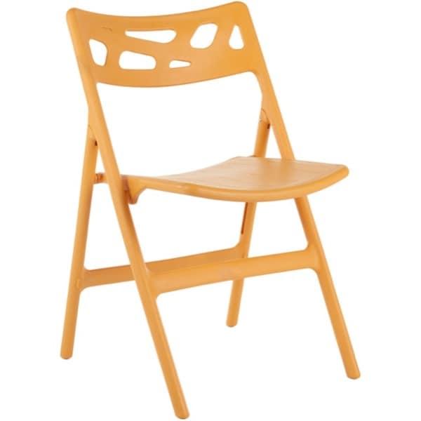 Safavieh Timothy Orange Indoor/ Outdoor Folding Chairs (Set of 4)