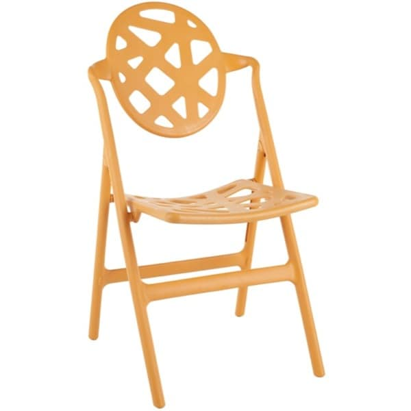 Safavieh Kendall Orange Indoor/ Outdoor Folding Chairs (Set of 4)