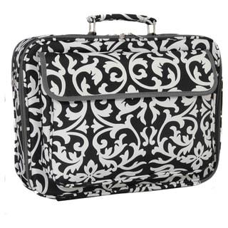 "World Traveler 17-inch Black and White Designer Prints Laptop Computer Case - 17"""