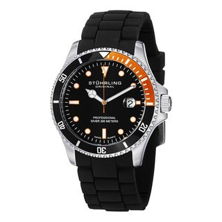Stuhrling Original Men's  Regatta Diver Sport Rubber Strap Watch