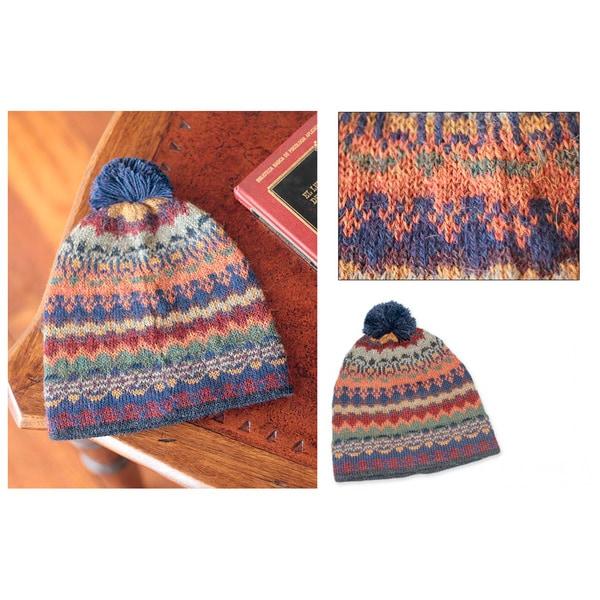 Alpaca 'Indigo Winter' Hat (Peru)