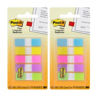 Post-it .5-inch Assorted Color Flags (Pack of 2)