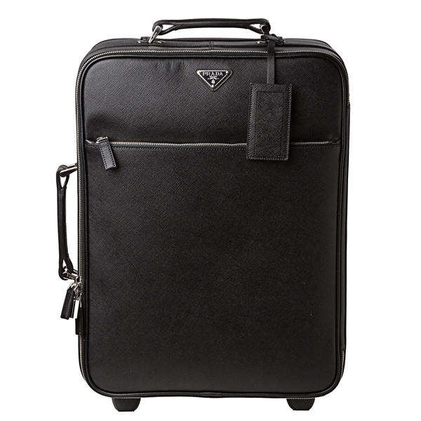 prada saffiano wallet sale - Prada Black Saffiano Leather Trolley - 14846919 - Overstock.com ...