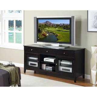 Dark Espresso Veneer 'Connect-It' 60-inch TV Console