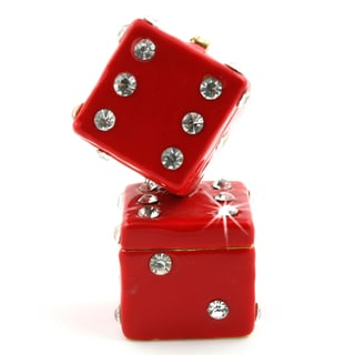 Objet d'art 'The Dice Man Cometh' Red Dice Trinket Box