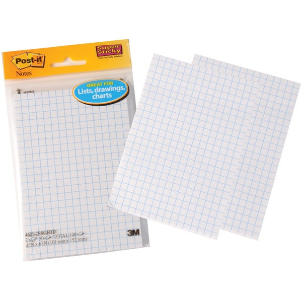 Post-It Super Sticky Notes On Grid Paper (Pack of 2)
