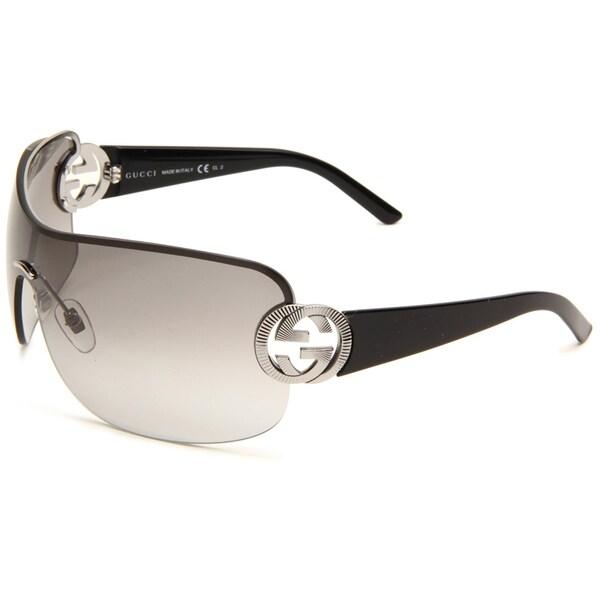 Gucci Women's 'GG 2890 BGY' Women's Ruthenium Black Fashion Sunglasses