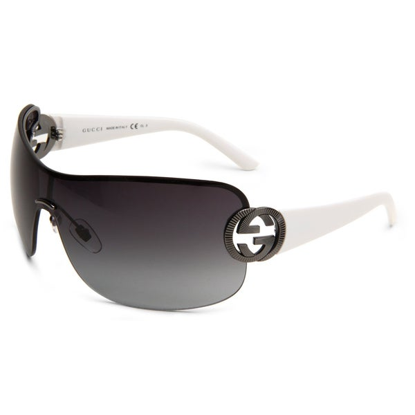 Gucci Women's'GG 2890 6XL' White Sunglasses