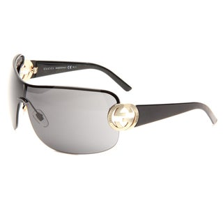 Gucci Women's 'GG 2890 BKS' Black/Gold Sunglasses