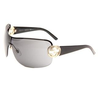 Gucci Women's 'GG 2890 BKS' Black/Gold Sunglasses