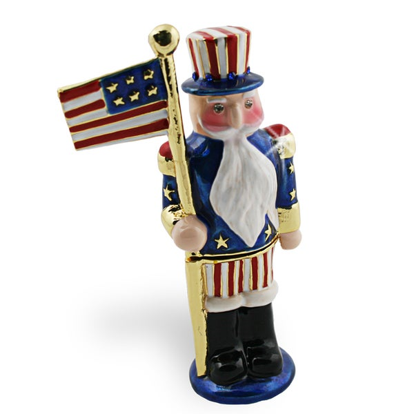 Objet d'art 'The Firecracker' US Nutcracker Trinket Box