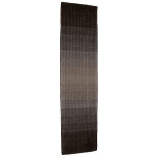 Hand-tufted Rays Grey Wool Rug (2' x 8')