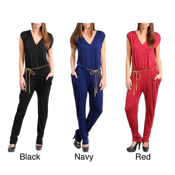 Stanzino Women's Waist Tie Jumpsuit