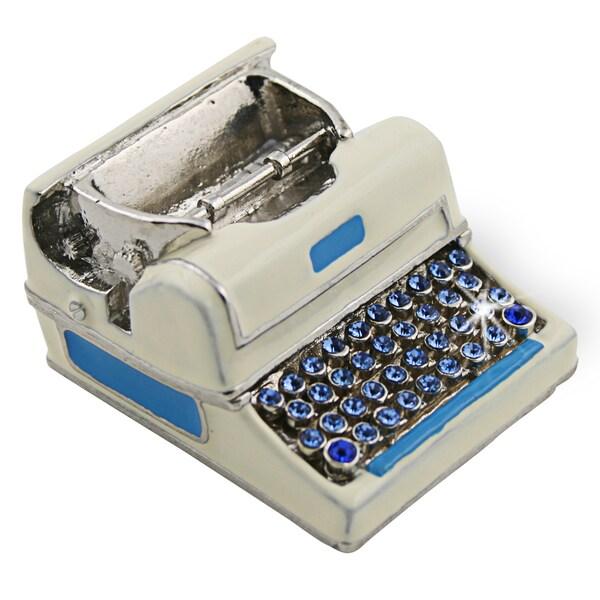 Objet d'art 'Qwerty' Antique Type Writer Trinket Box