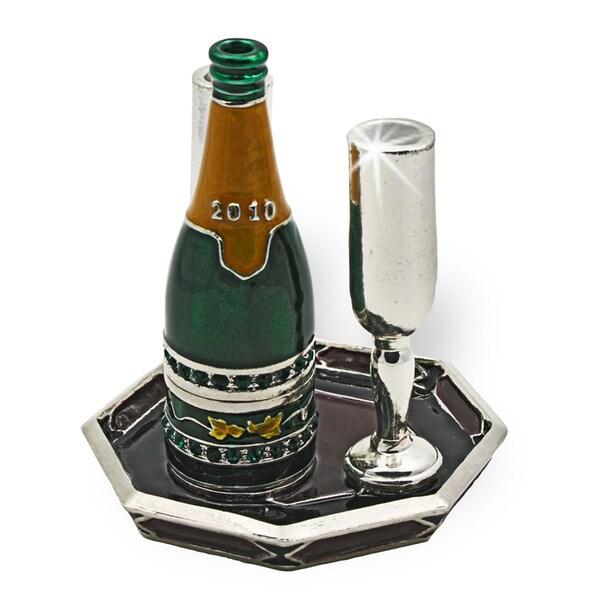 Objet d'art 'Auld Lang Syne' Champagne Set Trinket Box