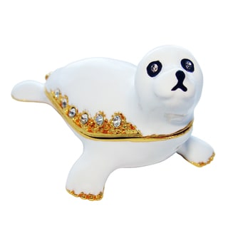 Objet d'art 'Flipper' Baby Seal Trinket Box