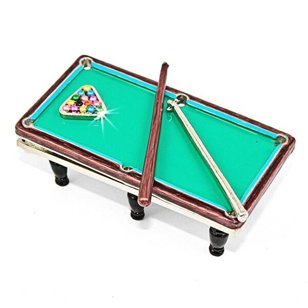 Objet d'art 'Rack Em' Up' Pool Table Trinket Box